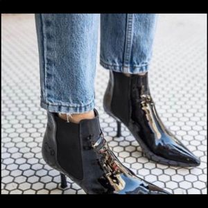 Anine bing patent leather booties